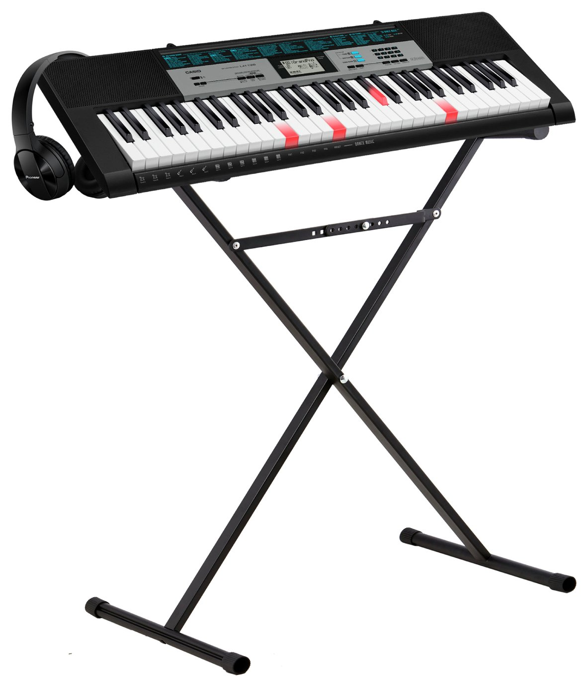 Image of Casio LK-136AD Keyboard with Stand and Headphones