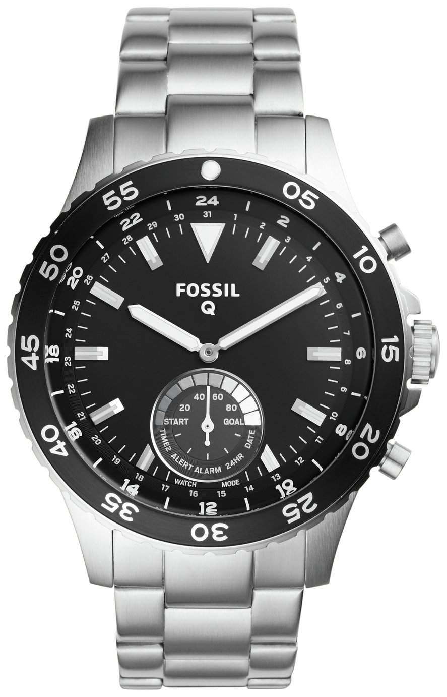 Image of Fossil Q Crewmaster Stainless Steel Hybrid Smart Watch