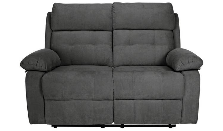Fine Buy Argos Home June 2 Seater Fabric Recliner Sofa Charcoal Sofas Argos Dailytribune Chair Design For Home Dailytribuneorg