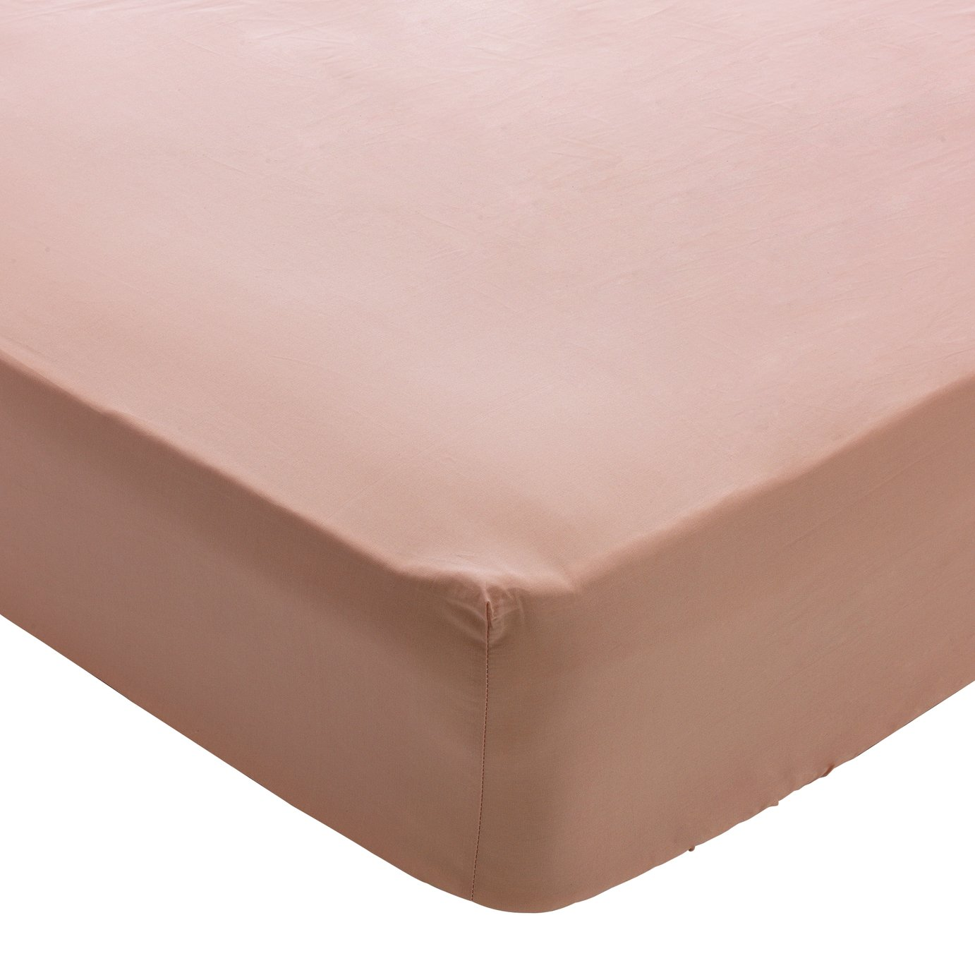 Heart of House Blush 200 TC Fitted Sheet - Single