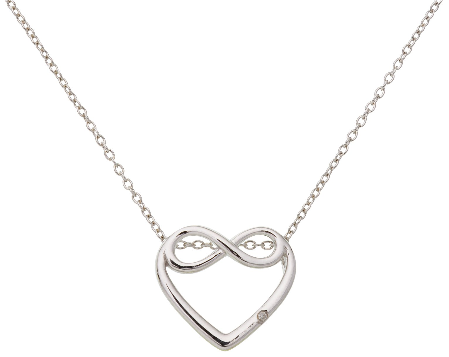 Accents by Hot Diamonds Silver Heart Pendant 18 Inch Chain