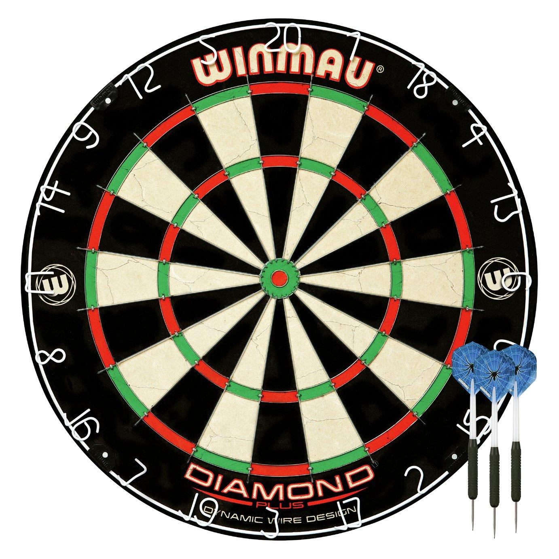 Winmau Diamond Plus Bristle Dartboard and Darts Set