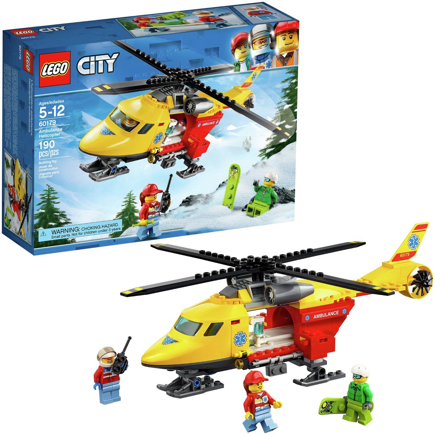 LEGO City Vehicles Ambulance Toy Helicopter Playset - 60179