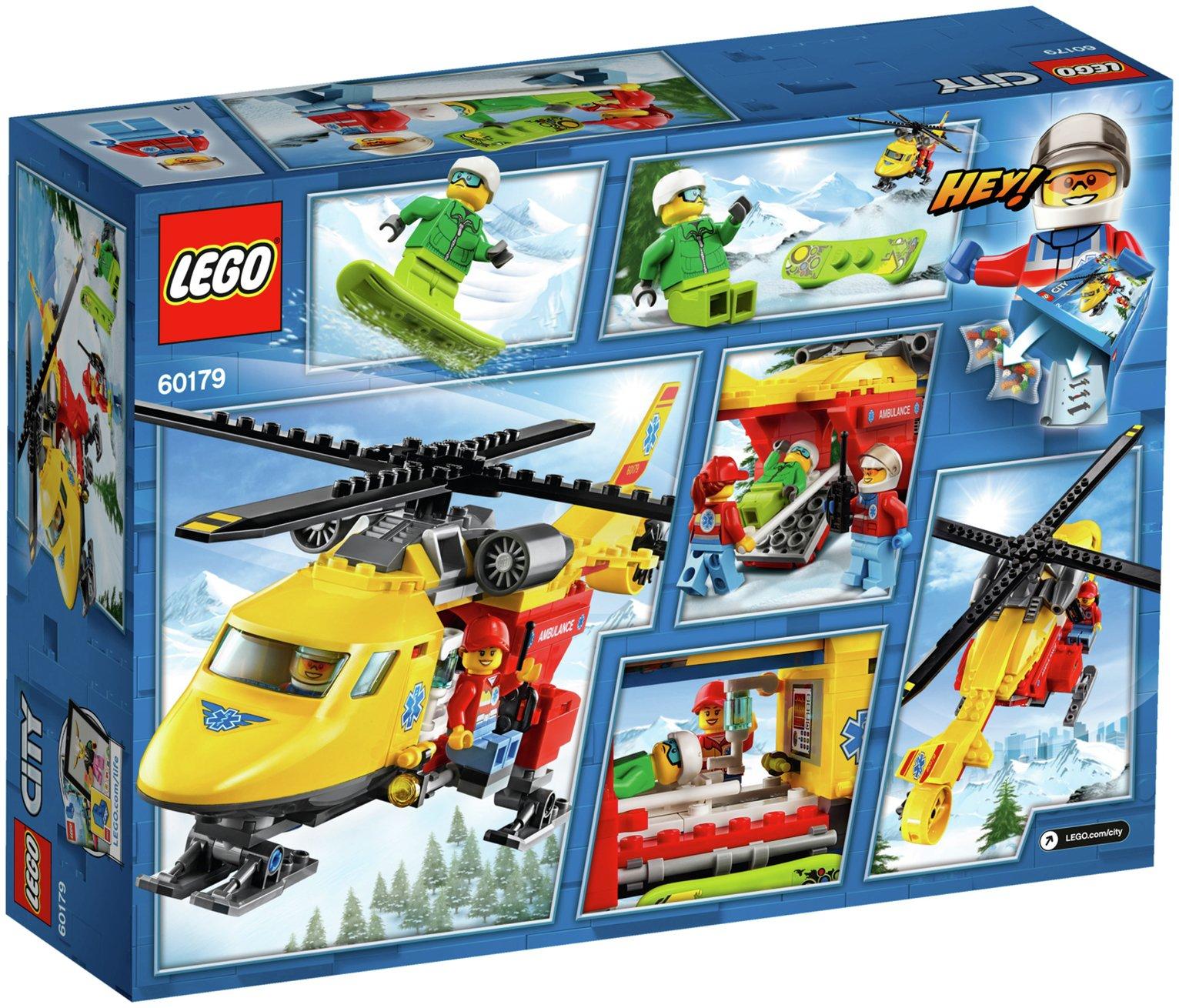 Buy LEGO City Ambulance Helicopter - 60179   LEGO   Argos