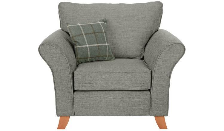 Swell Buy Argos Home Kayla Fabric Armchair Grey Armchairs And Chairs Argos Machost Co Dining Chair Design Ideas Machostcouk
