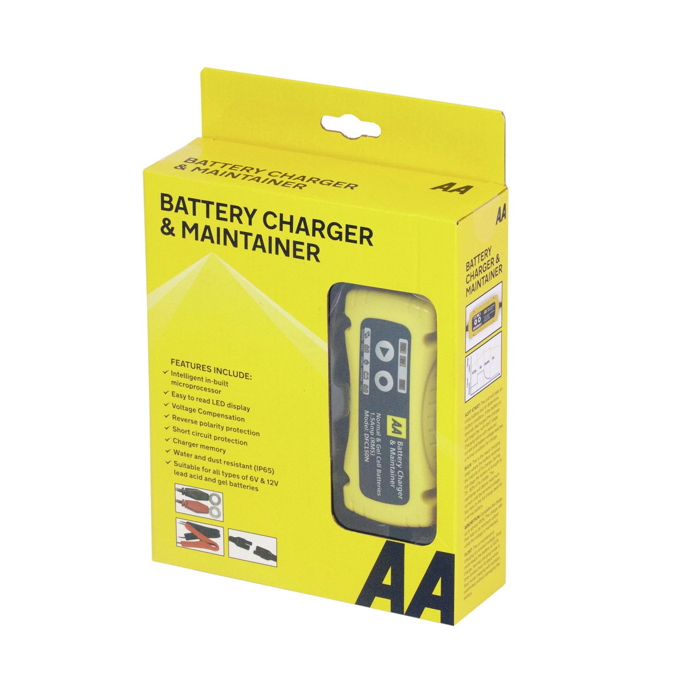 Image of AA 6V/12V Smart Trickle Car Battery Charger.