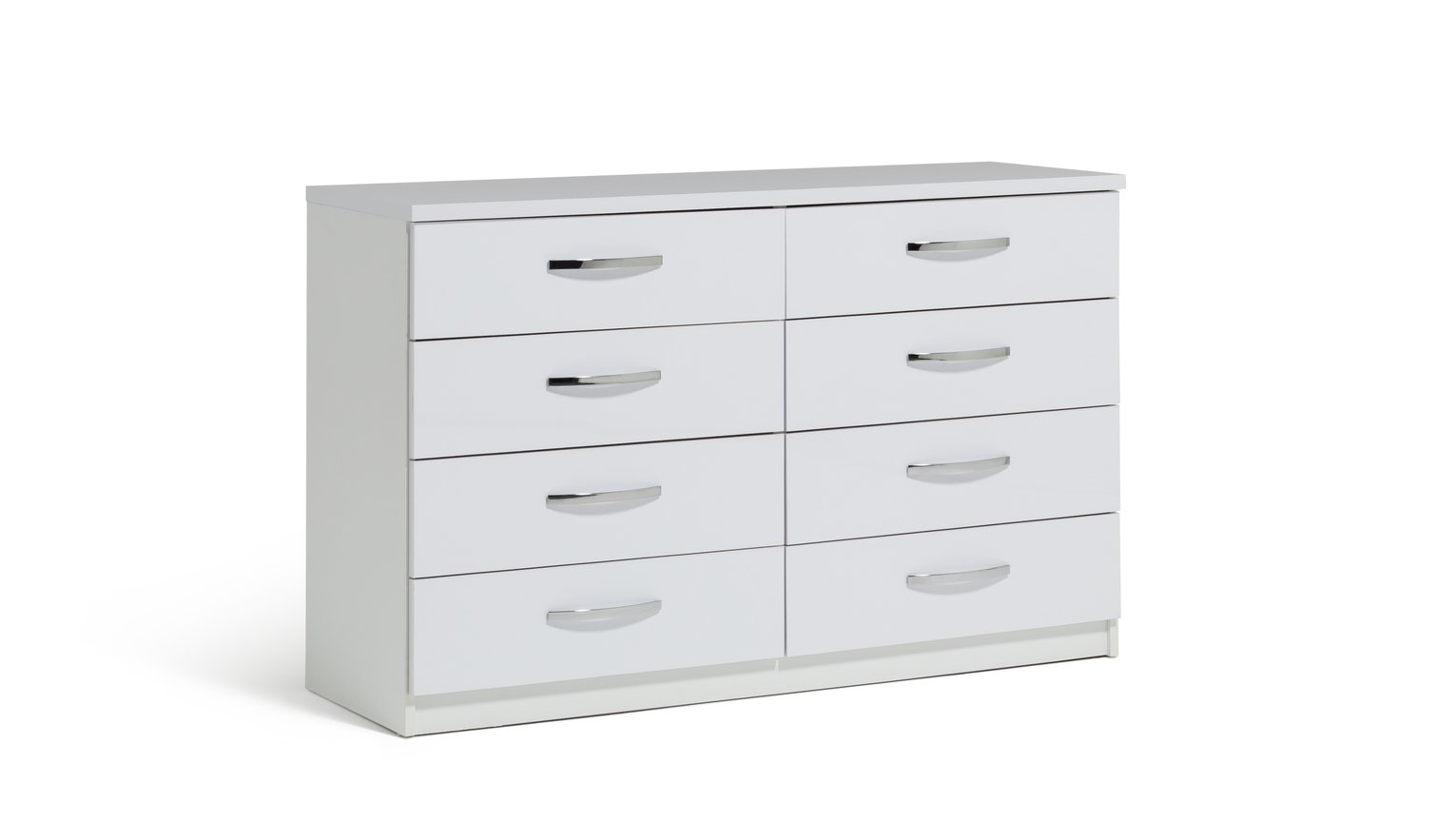 Argos Home New Hallingford 4+4 Drawer Gloss Chest