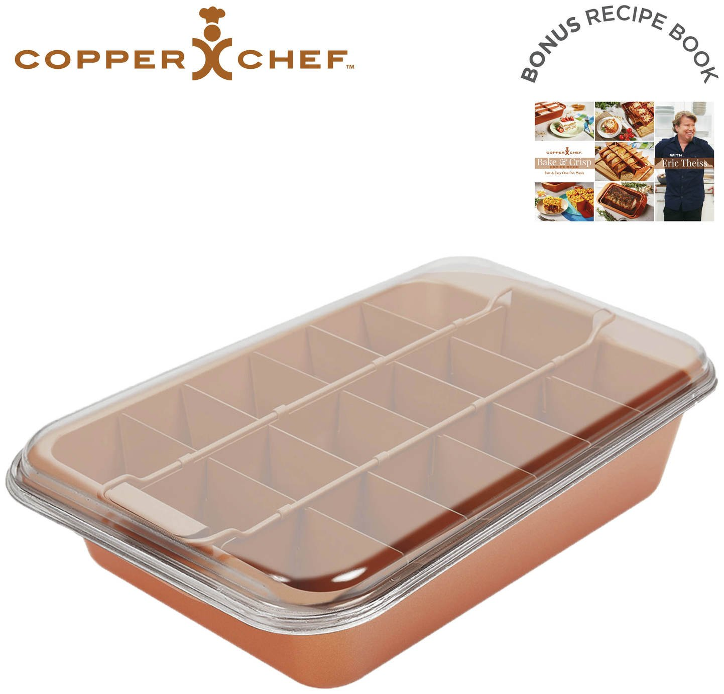 Image of Copper Chef Bake & Crisp Roasting Tin with Accessories