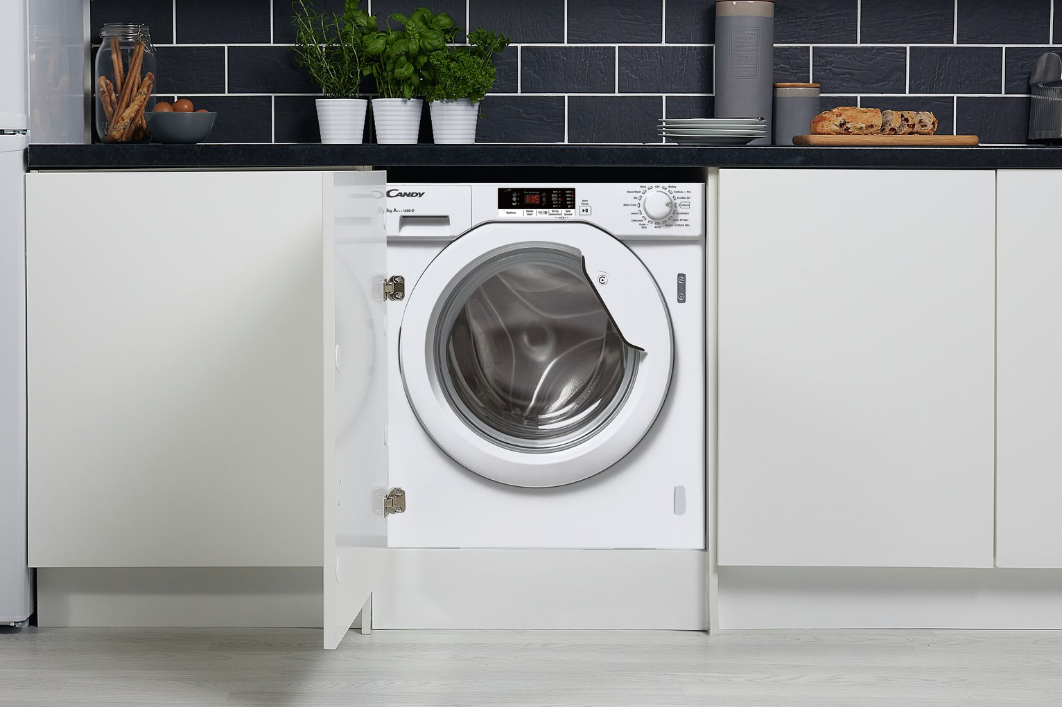 Candy CBWM816S 8KG 1600 Spin Integrated Washing Machine