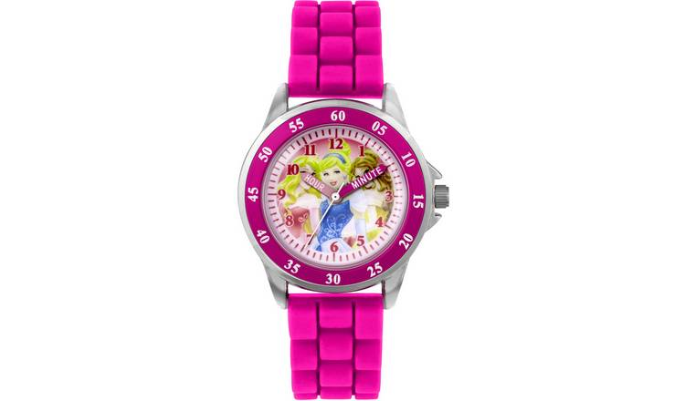 Disney Princess Pink Silicone Strap Watch
