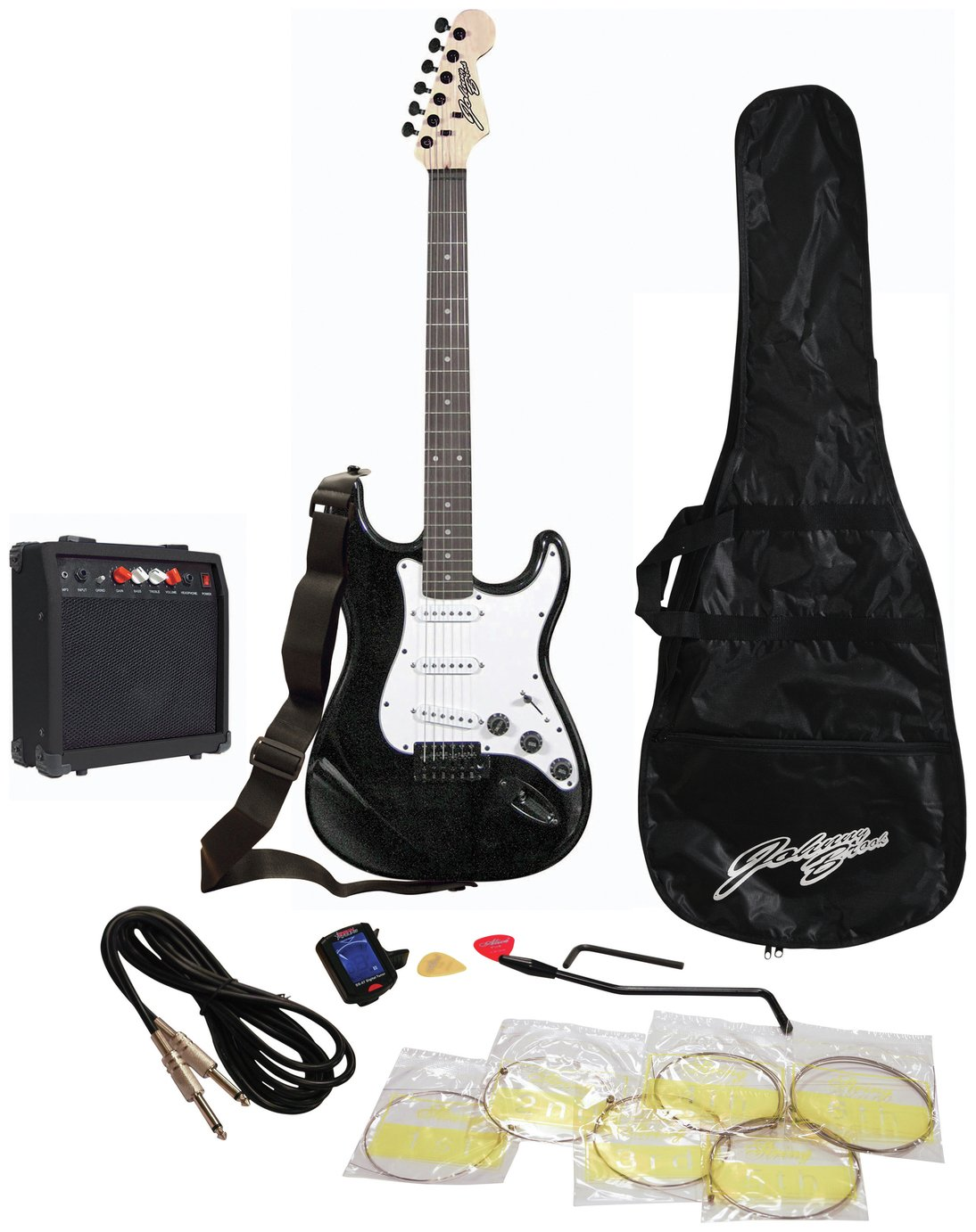 Johnny Brook Standard Guitar Kit with Amp - Black