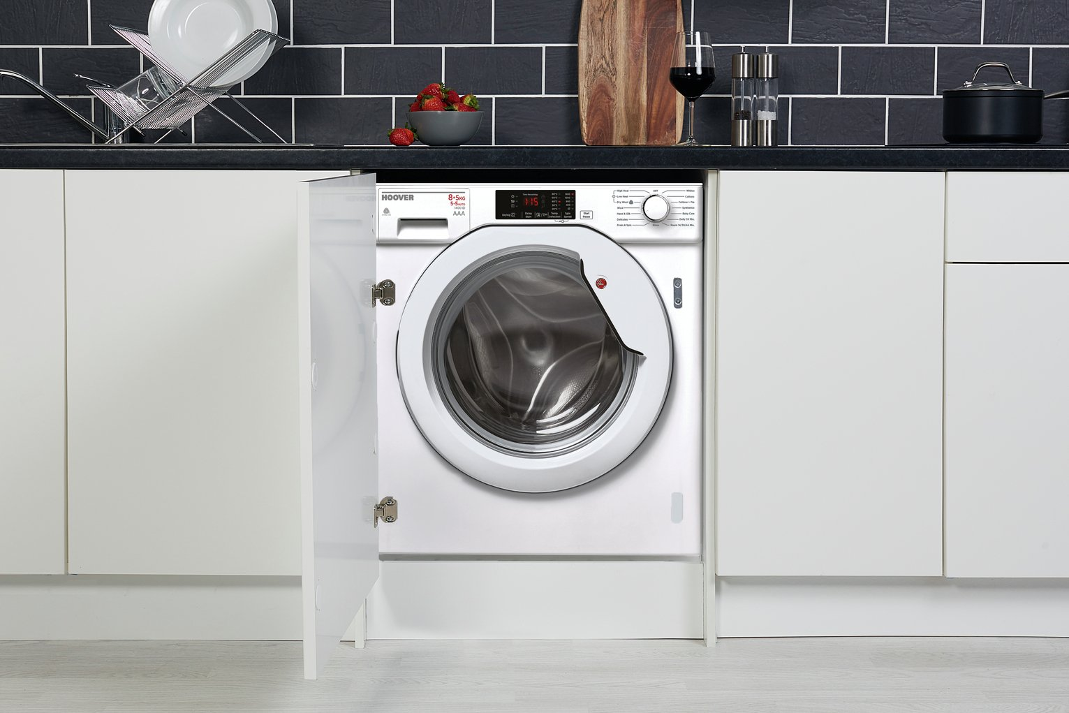 Image of Hoover HBWM 814D80  Built in Washing machine