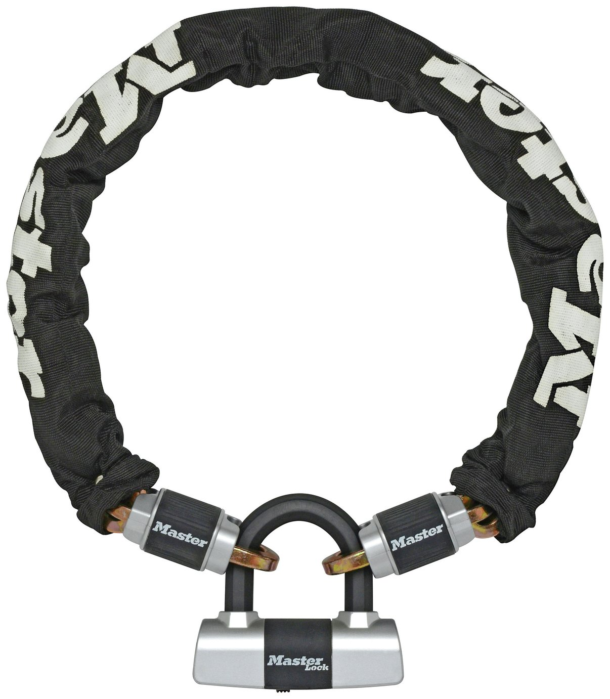 Master Lock Mini D and Chain Bike Lock - 1m
