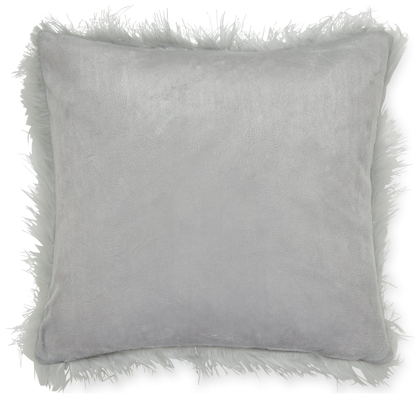 Catherine Lansfield Set of 2 Metallic Cushions - Silver