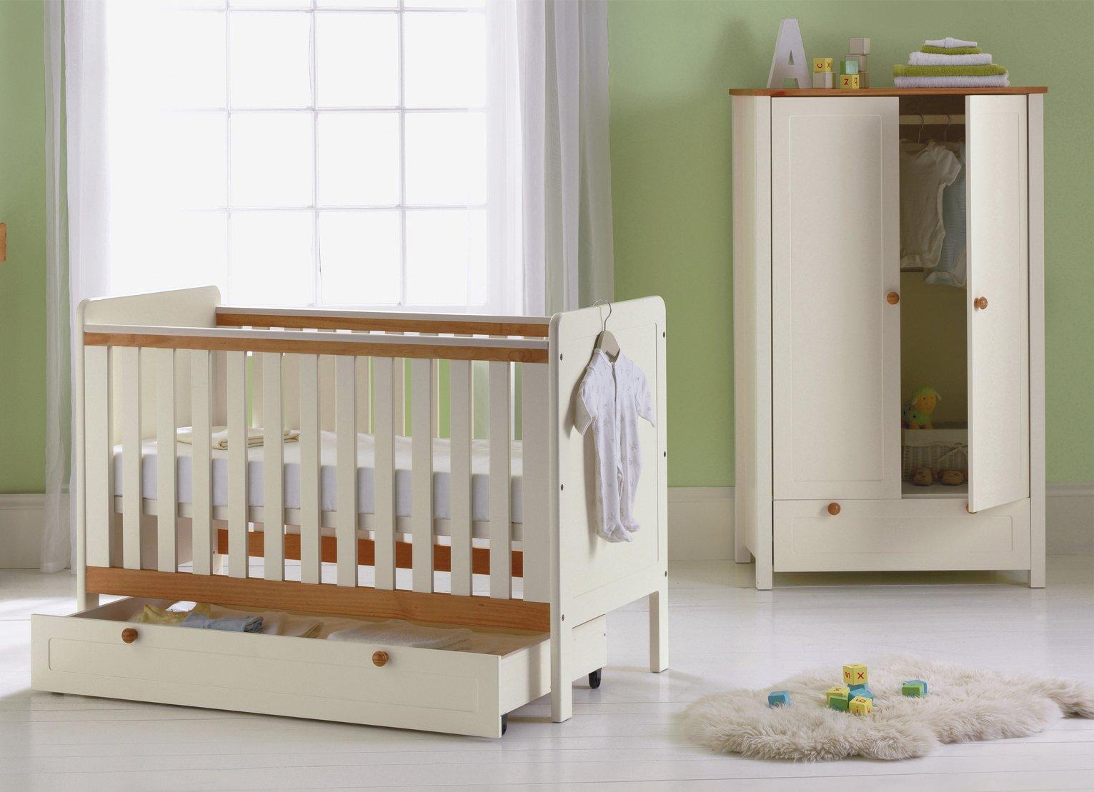 Image of Classic Two-Tone 3 Piece Nursery Furniture Set