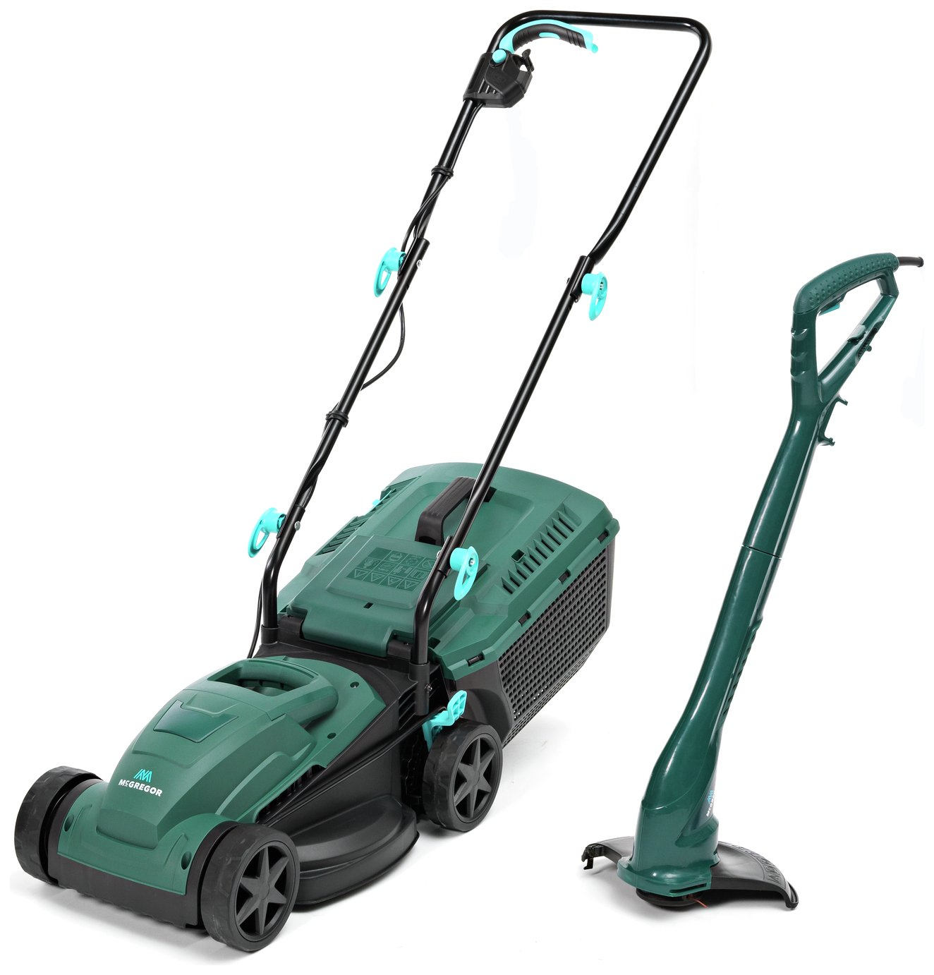 McGregor 33cm Corded Rotary Lawnmower 1200W and Trimmer 250W