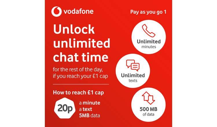 Buy Vodafone Pay As You Go 1 SIM Card | SIM cards | Argos