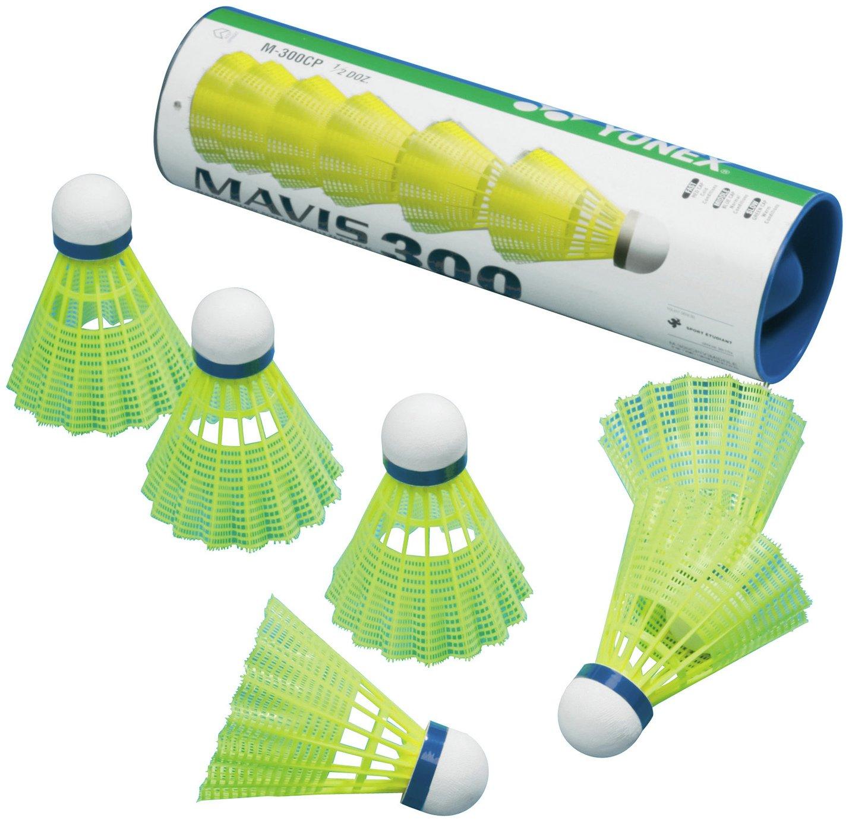 Mavis 300 Yellow Badminton Shuttlecocks - 6 Pack