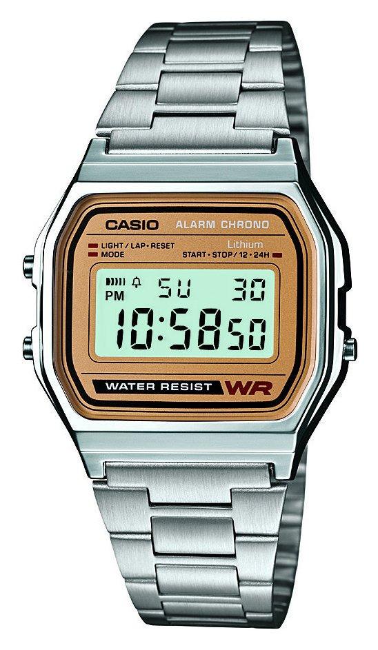 Casio Men's Stainless Steel Bracelet LCD Display Watch