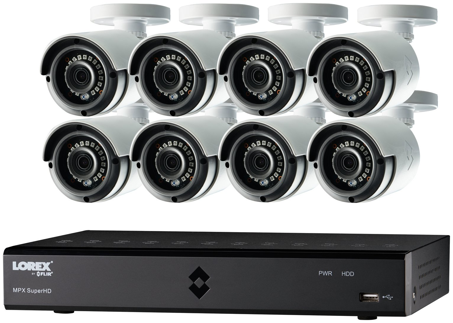 Image of Lorex 16 Channel 1080P 2TB DVR and 8 Camera CCTV
