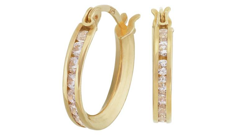 10 Gauge 1420KT Gold Hoop Earrings by