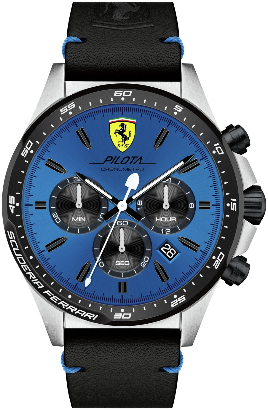Scuderia Ferrari Pilota Men's Black Plastic Strap Watch