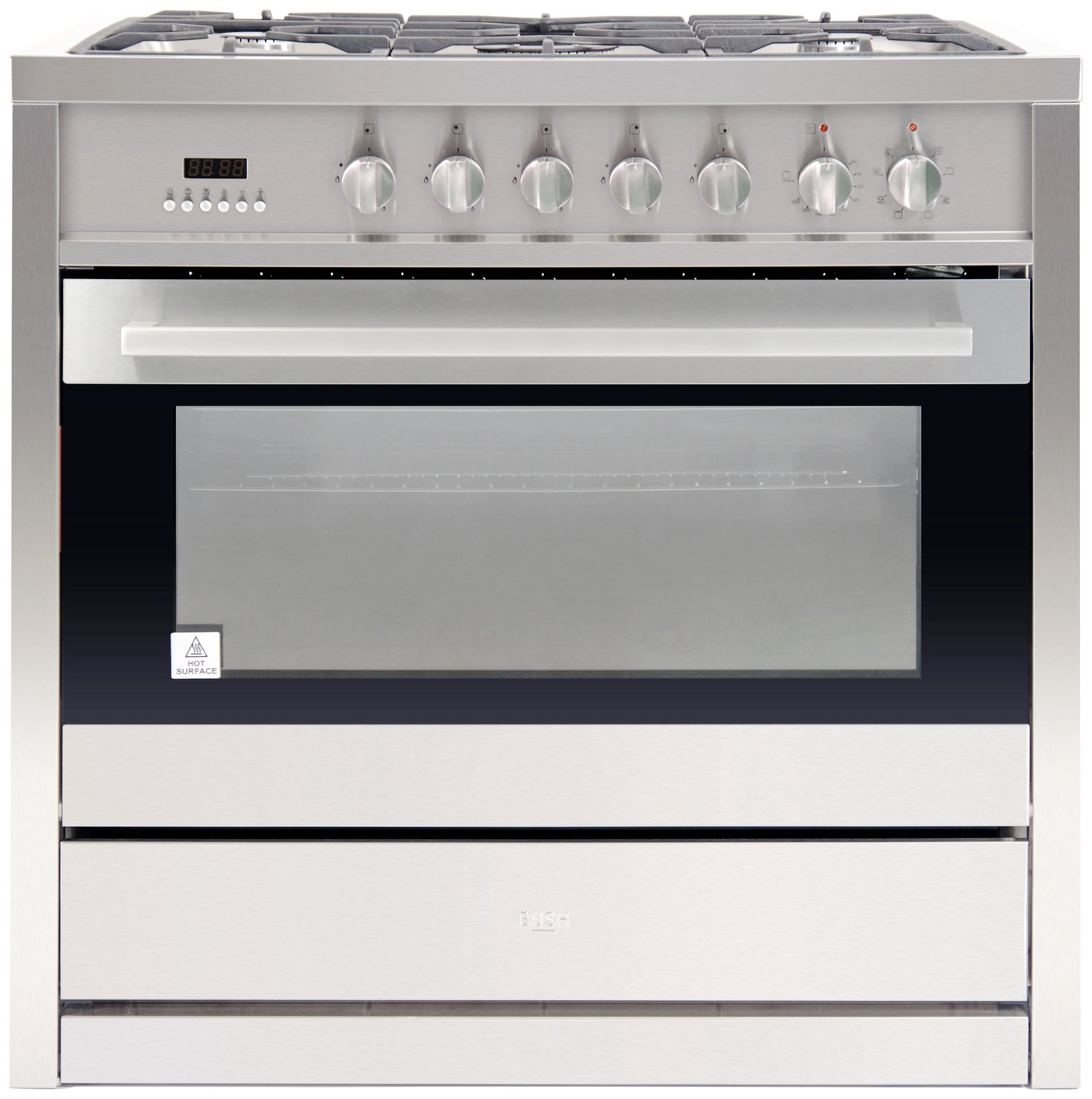 Image of Bush BRCNB90SPSS Dual Fuel Range Cooker - S/ Steel