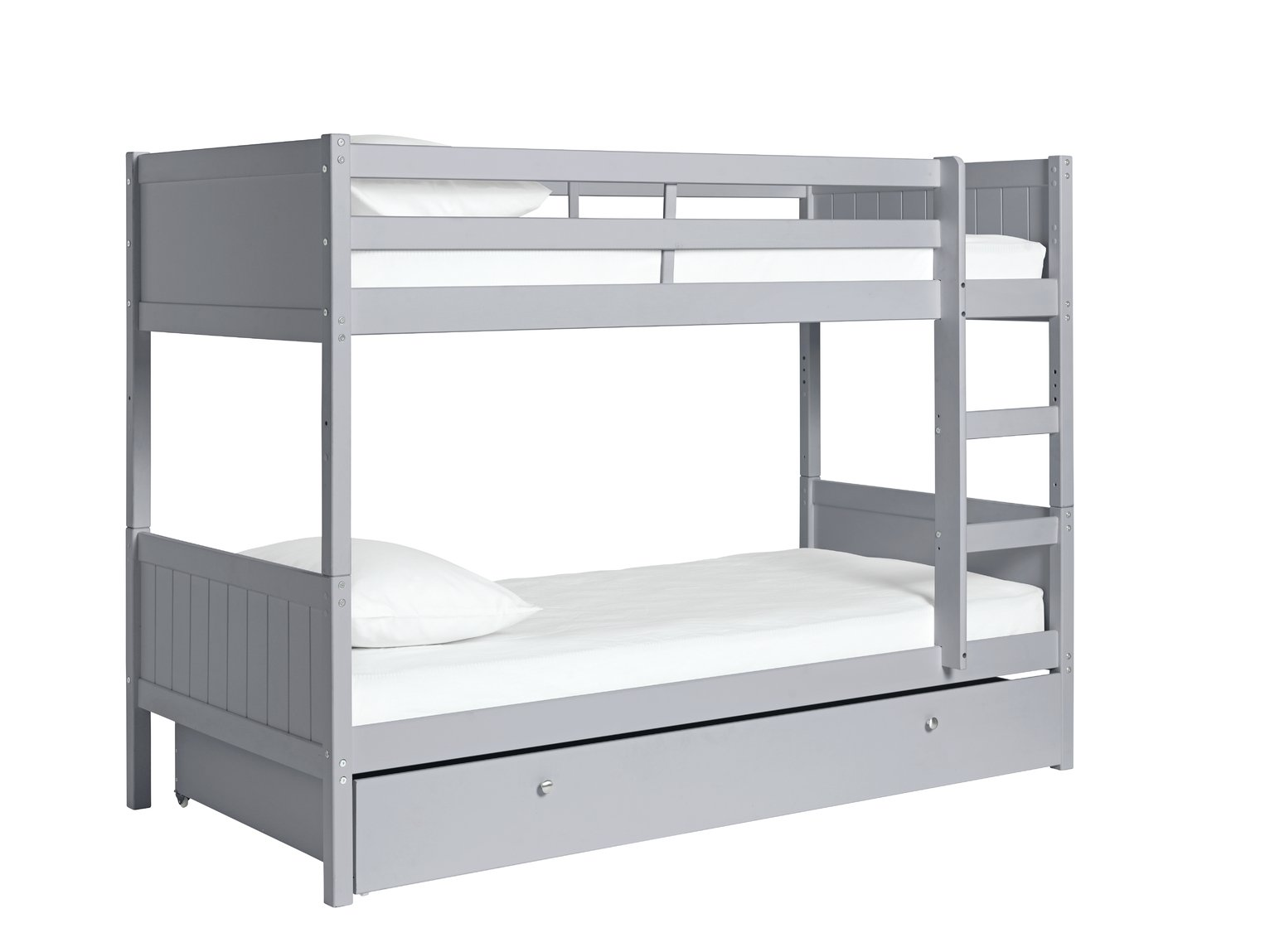 Argos Home Detachable Grey Bunk Bed Frame with Drawer