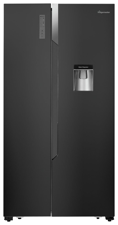 Image of Fridgemaster MS91515BFF American Fridge Freezer - Black