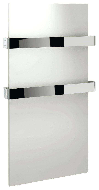 Lavari Designer 2 Tier Chrome Heated Towel Rail - White