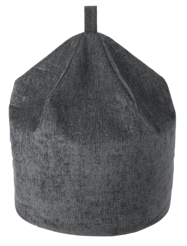 Argos Home Chenille Beanbag - Charcoal