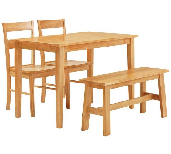 Buy Collection Chicago Dining Table Bench 2 Chairs