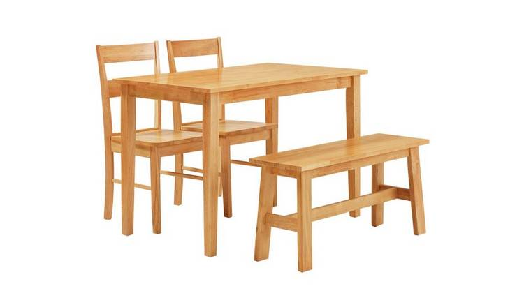 Argos Home Chicago Dining Table Bench 2 Chairs