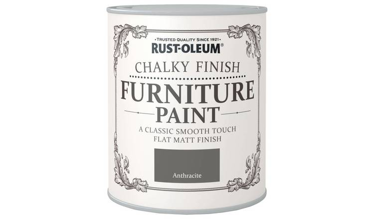Buy Rust Oleum Chalky Furniture Paint 750ml Anthracite