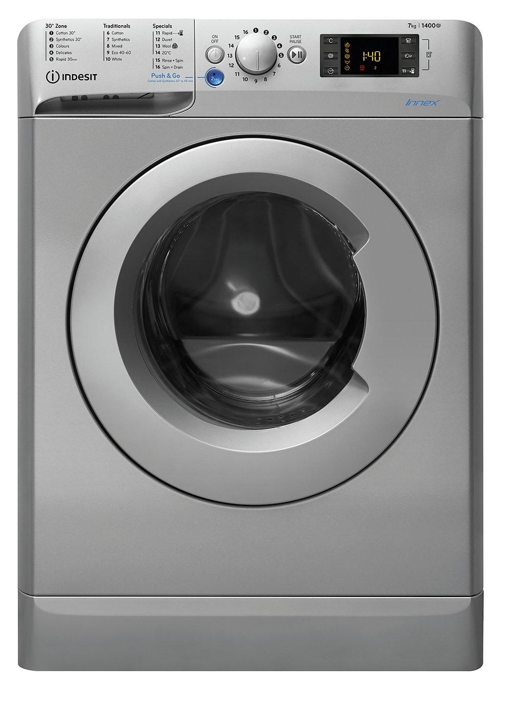 Indesit BWD71453S UK N 7KG 1400 Spin Washing Machine Silver
