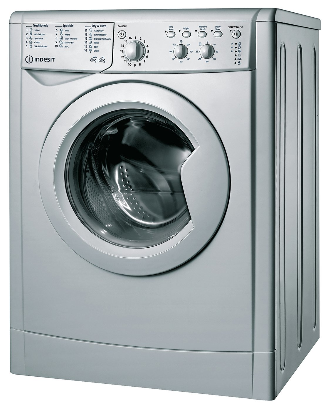Indesit IWDC65125S 6KG/5KG Washer Dryer - Silver