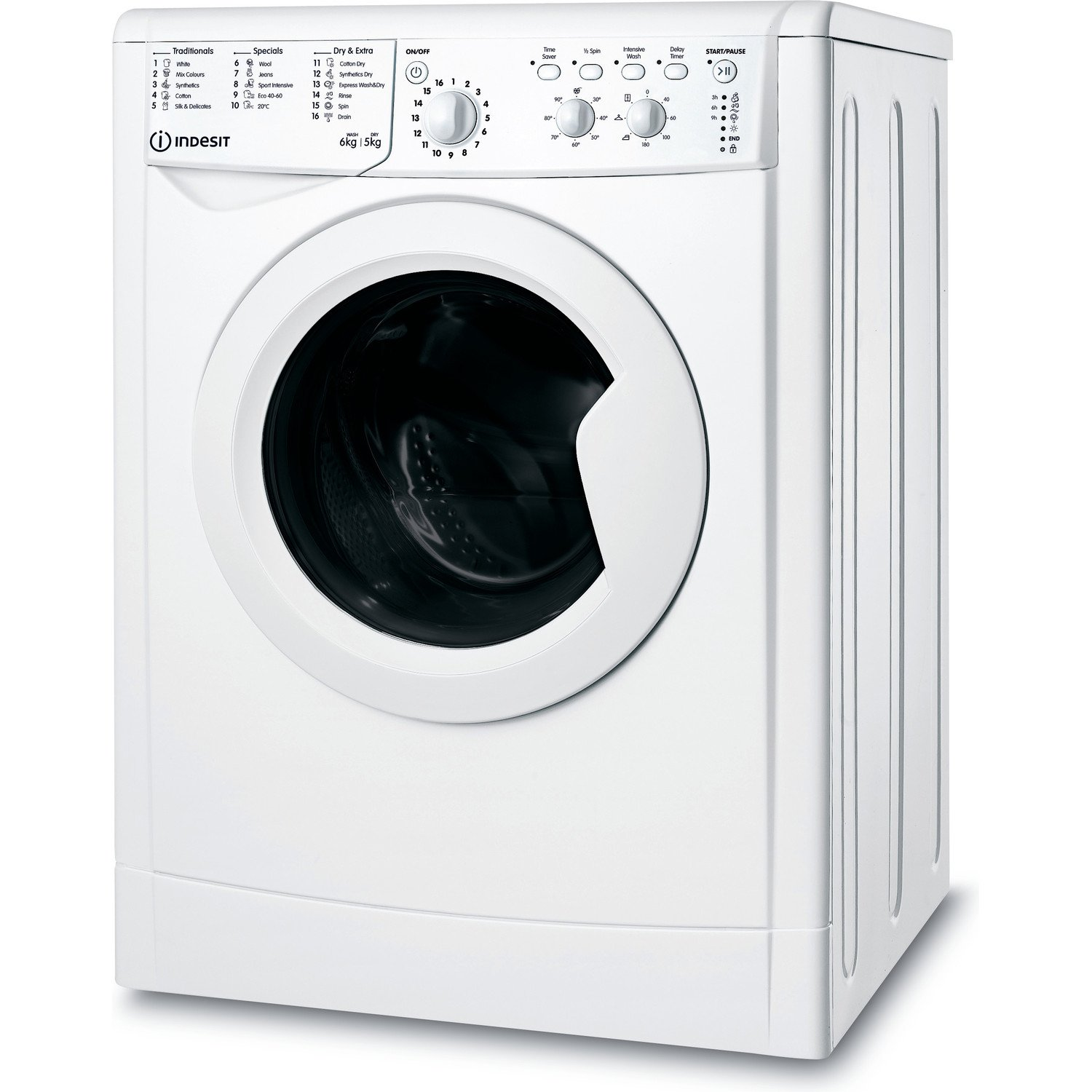 Indesit IWDC65125 6KG/5KG 1200 Spin Washer Dryer - White