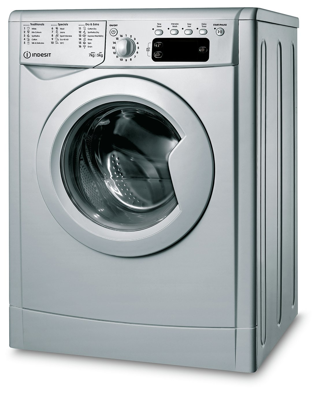 Indesit IWDD7145S 7KG/5KG 1400 Spin Washer Dryer - Silver