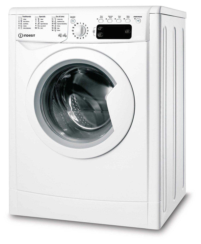Indesit IWDD75145 7KG/5KG 1400 Spin Washer Dryer - White