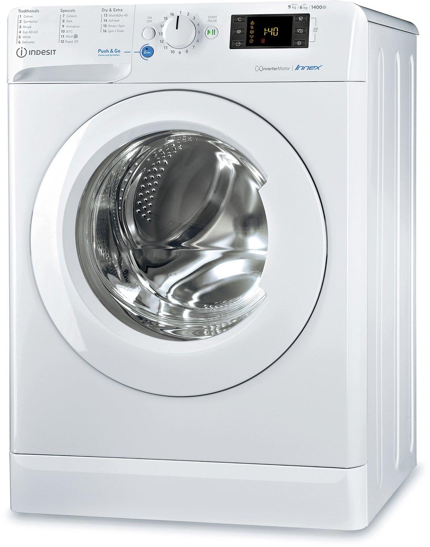 Indesit BDE961483XW UK N 9/6 KG 1400 Spin Washer Dryer White