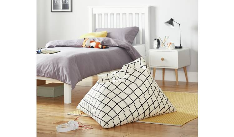 Argos Home Large Monochrome Bean Bag