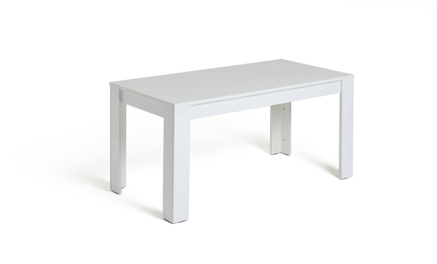 Habitat Miami Gloss Extending 8 Seater Dining Table-White