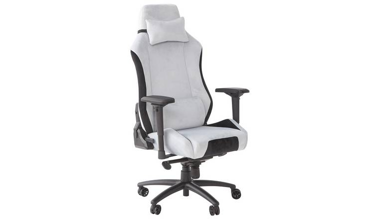 X Rocker Messina Fabric Gaming Office Chair - Silver