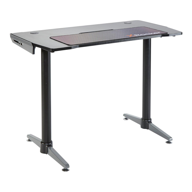 X Rocker Panther Gaming Desk - Black & Grey