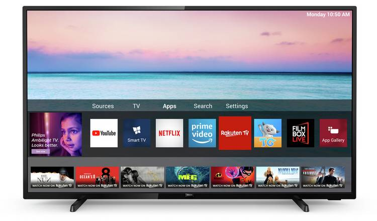 Philips 70 Inch 70PUS6504 Smart 4K LED TV with HDR
