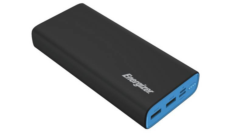Energizer Max Polymer 20000mAh Portable Power Bank – Black