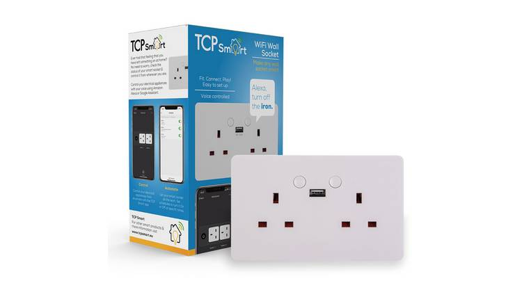 TCP Smart Wall Socket with USB