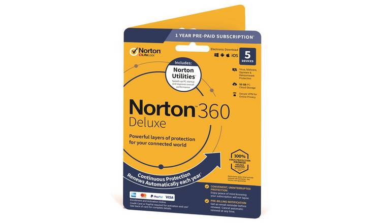 Norton 360 Deluxe & Utilities - 5 Devices - 1 Year
