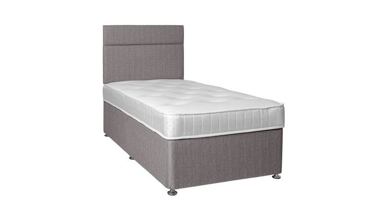 Argos Home Winslow 600 Pocket Memory Single Divan Bed - Grey