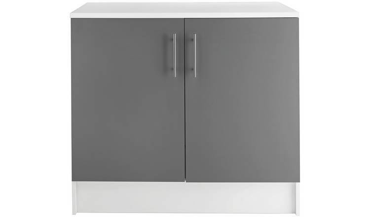 Argos Home Athina 1000mm Fitted Kitchen Base Unit - Grey